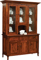 Jacob Martin 3 Door Hutch|Brown Maple in Michaels OCS113|62in W x 20 1/4in D x 84 1/4in H|The Amish Home|Amish Furniture at the Pittsburgh Mills