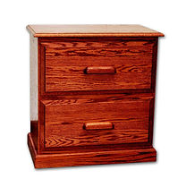 Country Home File Cabinet with 2 Drawers|Oak in Medium OCS110|18in W x 27in D x 30in H|The Amish Home|Amish Furniture at the Pittsburgh Millsv