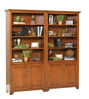 Cherry Valley Bookcase | Cherry in Seely OCS104 | Many Sizes Available | The Amish Home | Amish Furniture at the Pittsburgh Mills