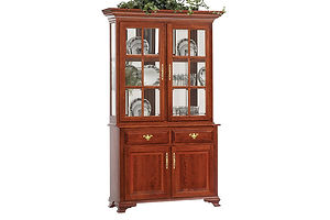 Queen Victoria 2 Door Hutch|Cherry in Acres OCS106|50in W x 20in D x 83 1/2in H|The Amish Home|Amish Furniture at the Pittsburgh Mills Amish dining solutions