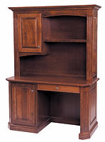 Buckingham Work Station with Hutch|Cherry in Washington OCS107|55 1/4in W x 23 1/2in D x 77 1/2in H|The Amish Home|Amish Furniture at the Pittsburgh Mills