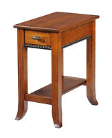 Cranberry Chair Side End Table|Quartersawn White Oak in Michaels OCS113|13in W x 22in D x 24in H|The Amish Home|Hardwood Furniture at the Pittsburgh Mills