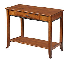 Cranberry Sofa Table|Quartersawn White Oak in Michaels OCS113|36in W x 18in D x 30in H|The Amish Home|Hardwood Furniture at the Pittsburgh Mills