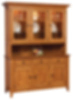 Canterbury 3 Door Hutch|Oak in Seely OCS104|63in W x 19 3/4in D x 83in H|The Amish Home|Amish Furniture at the Pittsburgh Mills