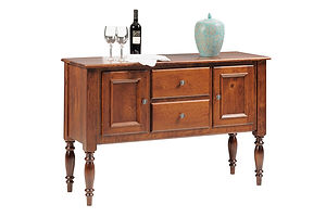 Wentworth Sideboard|Rustic Cherry in Seely OCS104|54in W x 36in D x 18in H|The Amish Home|Amish Furniture at the Pittsburgh Mills