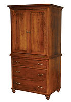 Duchess Armoire|Rustic Cherry in Seely OCS104|40in W x 23 3/4in D x 74in H|The Amish Home|Amish Furniture at the Pittsburgh Mills