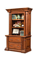 Paris Lateral File Cabinet with optional hutch | Cherry in Chocolate Spice FC-9090 | 52 1/2in W x 23 3/4in D x 82 1/2in H | The Amish Home | Amish Furniture at the Pittsburgh Mills