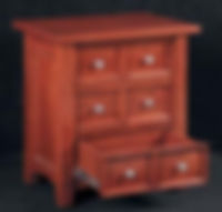 Garnet Hill End Table|Cherry in Washington OCS107|24in W x 17in D x 24in H|The Amish Home|Hardwood Furniture at the Pittsburgh Mills