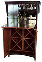 Wine Cabinet with drop-front|Brown Maple in Two-toned|35 1/2in W x 23in D x 61in H|The Amish Home|Amish Furniture at the Pittsburgh Mills