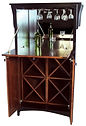 Wine Cabinet with drop-front Brown Maple in Two-toned 35 1/2in W x 23in D x 61in H The Amish Home Amish Furniture at the Pittsburgh Mills