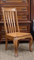 Hampton Side Chair with wood seat Floor Model Special Oak with OCS108 S-14 Stain