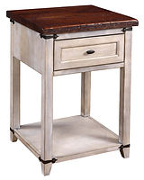 Farmhouse Open Nightstand|Reclaimed Barn Oak in Asbury OCS117|22in W x 20in D x 30 1/2in H|The Amish Home|Hardwood Furniture at the Pittsburgh Mills
