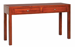 Park Avenue Sofa Table|Brown Maple in Mission Maple OCS225|54in W x 16in D x 30in H|The Amish Home|Amish Furniture at the Pittsburgh Mills