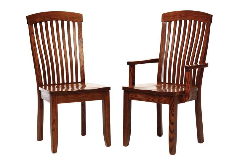 The Kingdom chair is shown in oak