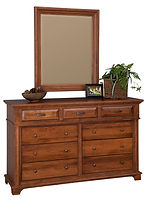 Lindenhurst 66in Dresser|Rustic Cherry in Seely OCS104|66in W x 21in D x 41in H|The Amish Home|Amish Furniture at the Pittsburgh Mills