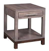 Vienna End Table | Brown Maple in Two-toned | 20in W x 22in D x 24in H | The Amish Home | Amish Furniture at the Pittsburgh Mills