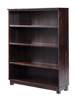 Urban Bookcase | Brown Maple in Rich Tobacco OCS230 | 48in W x 14 1/4in D x 60in H | The Amish Home | Amish Furniture at the Pittsburgh Mills