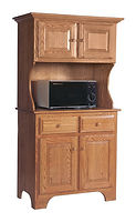 Microwave Cabinet|Brown Maple in Fruitwood OCS103|36 7/8in W x 19 1/2in D x 68 1/2in H|The Amish Home|Amish Furniture at the Pittsburgh Mills
