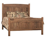 Choices Triple Panel Bed|Rustic Cherry in Cappuccino OCS119|Headboard 58in H, footboard 32in H|The Amish Home|Amish Furniture at the Pittsburgh Mills