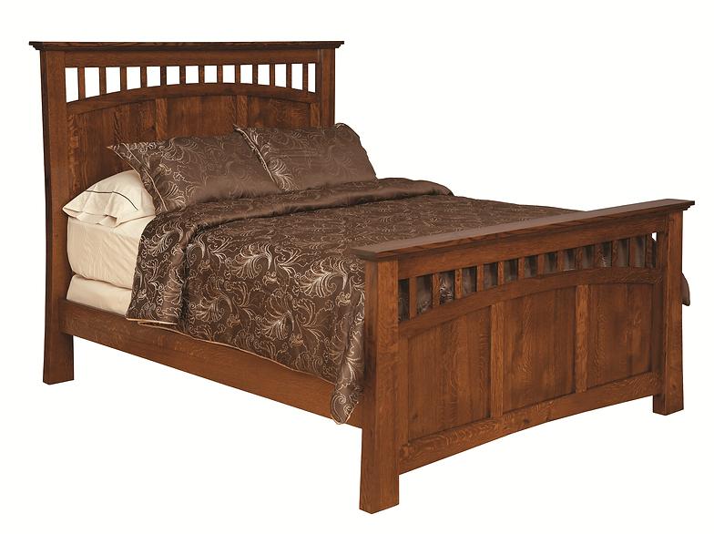 bridgeport mission panel bed - Mission Bedroom Furniture