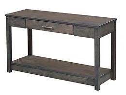 Nelson's Economy Urban Sofa Table | Brown Maple in Smoke OCS121 | 36in W x 18in D x 30in H | The Amish Home | Amish Furniture at the Pittsburgh Mills