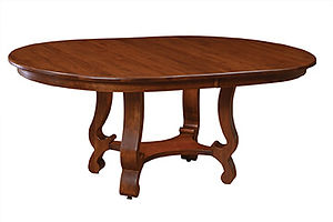 American furniture self storing dining room tables trestle table Amish furniture Pittsburgh Mills