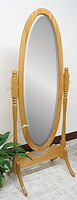 Antique Oval Cheval Mirror|Oak in Fruitwood OCS102|26 3/4in W x 17in D x 67in H|The Amish Home|Hardwood Furniture at the Pittsburgh Mills