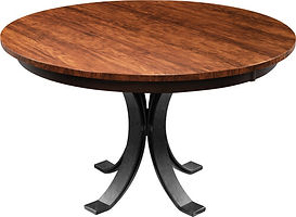Eclipse Single Pedestal Dining Table |  in  | Many Sizes Available | The Amish Home | Amish Furniture at the Pittsburgh Mills