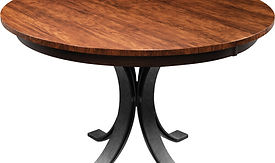 American furniture round table with leaf small kitchen table Amish furniture Pittsburgh Mills
