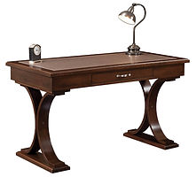 Stevenson Writing Table with optional Meganite inlay   Brown Maple in Rich Tobacco OCS228   54in W x 28in D x 30 1/2in H   The Amish Home   Amish Furniture at the Pittsburgh Mills