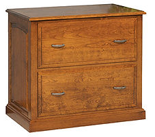 Lateral File Cabinet|Cherry in Seely OCS104|34in W x 20in D x 30in H|The Amish Home|Amish Furniture at the Pittsburgh Mills