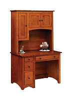 Wayne's Modern Shaker Student Desk with Hutch   Quartersawn White Oak in Michaels OCS113   43in W x 26in D x 71in H   The Amish Home   Amish Furniture at the Pittsburgh Mills