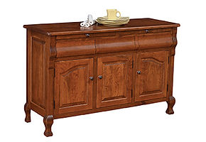 Arlington 3 Door Buffet|Rustic Cherry in Boston OCS111|56 1/4in W x 20 1/4in D x 35in H|The Amish Home|Amish Furniture at the Pittsburgh Mills