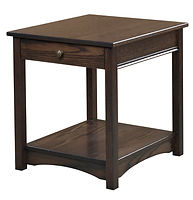 Nelson's Economy Traditional End Table | Oak in Cocoa OCS122 | 22in W x 24in D x 24in H | The Amish Home | Amish Furniture at the Pittsburgh Mills