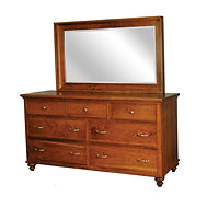 Duchess Dresser|Rustic Cherry in Asbury OCS117|66in W x 20 1/2in D x 34in H|The Amish Home|Amish Furniture at the Pittsburgh Mills