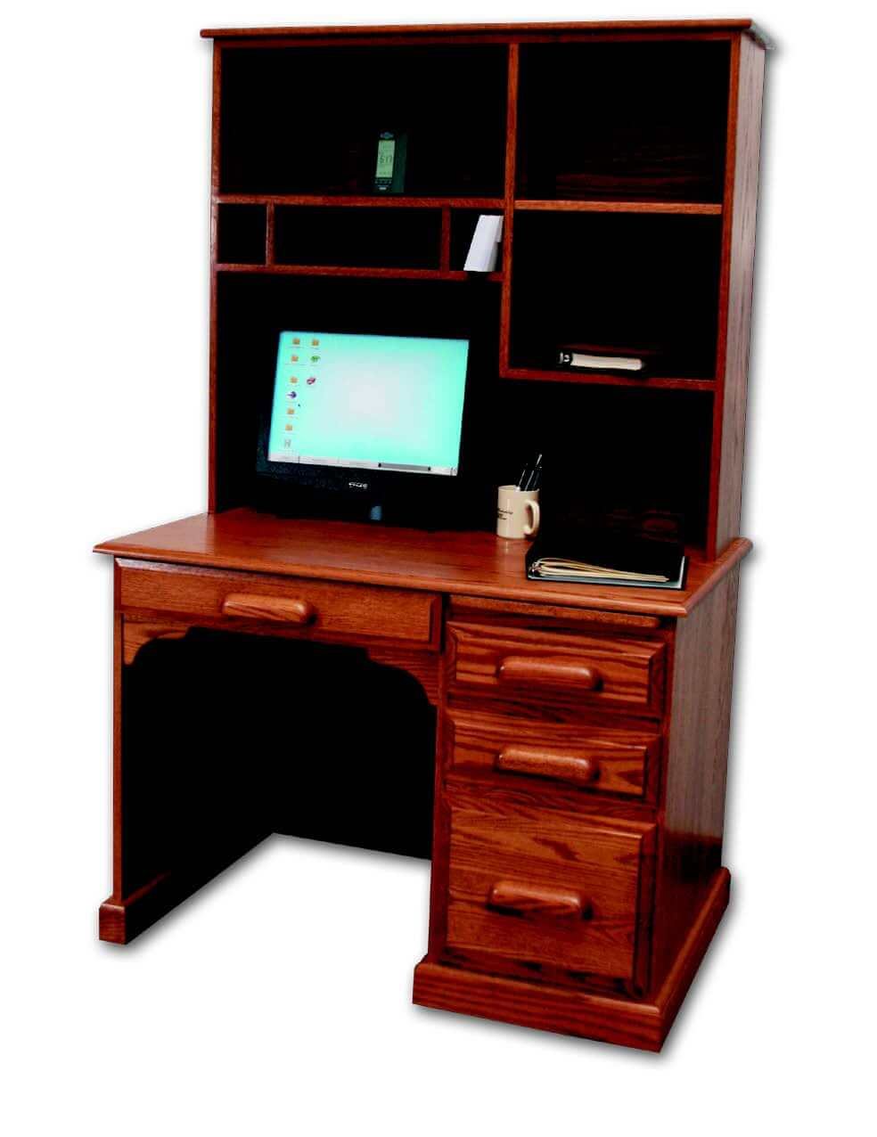 Country Home Desk with Hutch