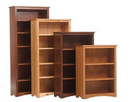 Prairie Mission Bookcase | Shown in assorted woods and stains | Many Sizes Available | The Amish Home | Amish Furniture at the Pittsburgh Mills