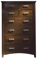 Cambrai Mission Chest of Drawers|Brown Maple in Onyx OCS230|36 1/2in W x 18 3/4in D x 58 1/2in H|The Amish Home|Amish Furniture at the Pittsburgh Mills