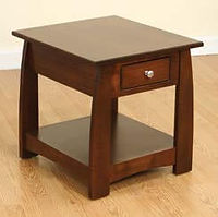 Sonoma End Table | Brown Maple in Coffee OCS226 | 22in W x 24in D x 24in H | The Amish Home | Amish Furniture at the Pittsburgh Mills