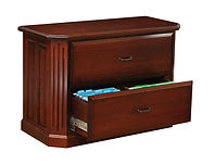 Fifth Avenue Two-Drawer Lateral File Cabinet | Brown Maple in Rich Cherry OCS227 | 44in W x 20in D x 30 1/2in H | The Amish Home | Amish Furniture at the Pittsburgh Mills