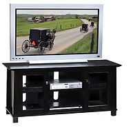 Avon TV Stand|Brown Maple in Onyx OCS230|56in W x 20in D x 26in H|The Amish Home|Hardwood Furniture at the Pittsburgh Mills