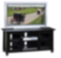 Avon TV Stand|Brown Maple in Onyx OCS230|Three Sizes Available|The Amish Home|Amish Furniture at the Pittsburgh Mills