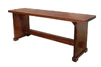 Plank Bench|Brown Maple in Coffee OCS226 | Available 3ft - 4ft - 5ft - 6ft|The Amish Home|Amish Furniture at the Pittsburgh Mills