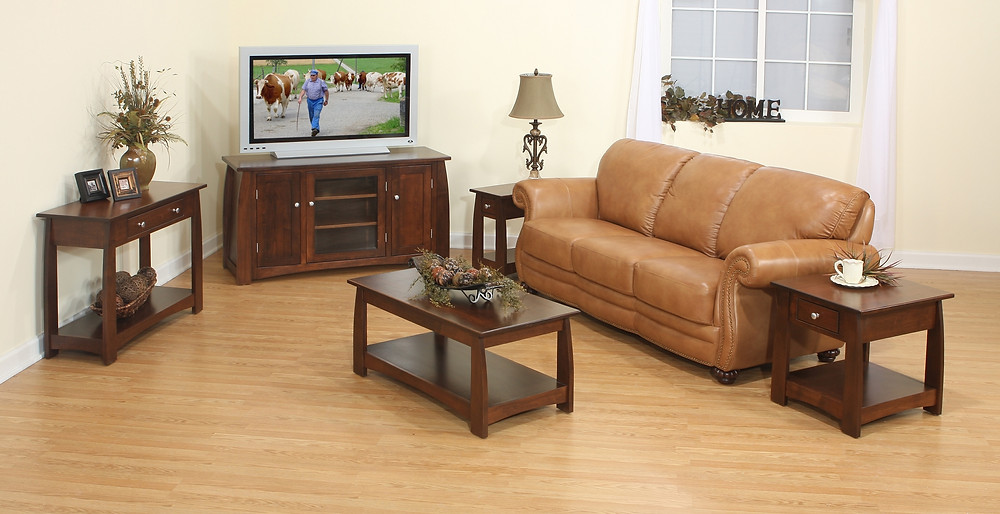 The Vineyard Collection is shown in brown maple