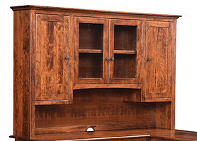 Cherry Valley Hutch for 54in, 62in, and 72in desks | Rustic Cherry in Michaels OCS113 | 72in W x 14in D x 48in H | The Amish Home | Amish Furniture at the Pittsburgh Mills