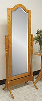 Cathedral Cheval Mirror|Oak in Fruitwood OCS102|26 3/4in W x 17in D x 68in H|The Amish Home|Hardwood Furniture at the Pittsburgh Mills