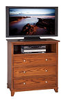 Hyland Park TV Chest of Drawers|Oak in Michaels OCS113|38in W x 19 3/4in D x 36 1/4in H|The Amish Home|Amish Furniture at the Pittsburgh Mills
