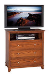 Hyland Park TV Chest of Drawers Oak in Michaels OCS113 38in W x 19 3/4in D x 36 1/4in H The Amish Home Amish Furniture at the Pittsburgh Mills
