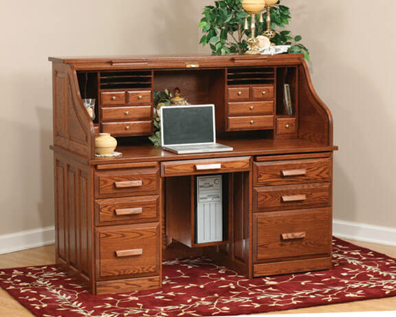 Computer Roll Top Desk