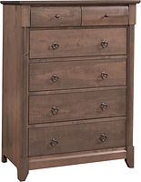 Sanibel Bureau|Rustic Cherry in Cappuccino OCS119|39in W x 20 3/4in D x 53 1/4in H|The Amish Home|Amish Furniture at the Pittsburgh Mills